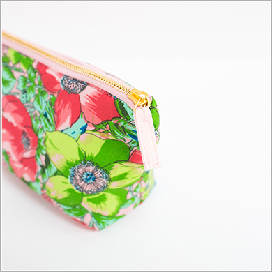 Cosmetic Bag. Pink Love Poppy.