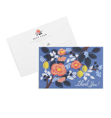 Cobalt Thank You Postcard. Set of 10 Postcards