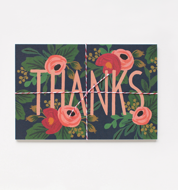 Rosa Thank You Postcard. Set of 10 Postcards